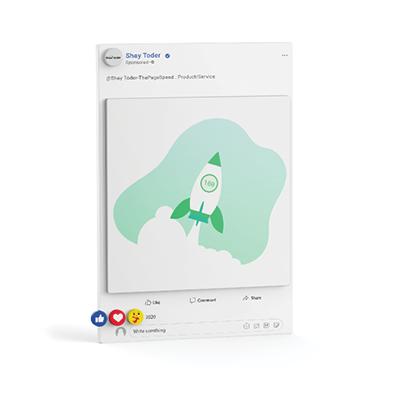 עיצוב פוסט לרשת חברתית שי תודר